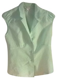 Banana Republic Button Down Shirt Mint Green With 2 Tone Pinstripes