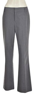 Banana Republic Womens Gray Dress Striped Wtw Career Trousers Flare Pants