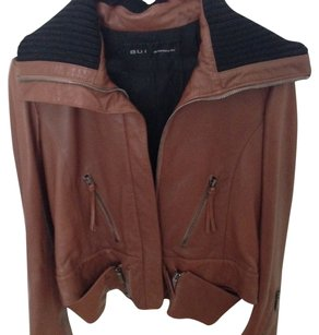 Barbara Bui Brown Leather Jacket