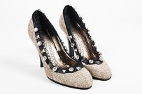 Barbara Bui Black Tweed Taupe Pumps