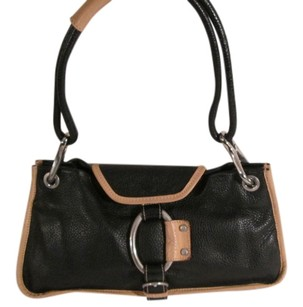 Barbara Milano Leathr Monogram Shoulder Bag