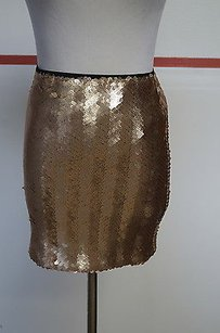 Bardot Sequin Mini Mini Skirt Copper