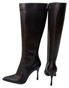 Barneys New York Pointed Toe Black Boots