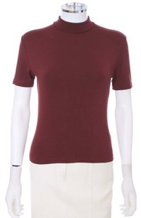 Barneys New York Short Sleeve Italian T Shirt Raisin