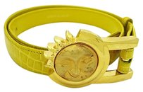 Barry Kieselstein-Cord Barry Kieselstein Cord Alligator Belt With Sterling Art Bronze Sun Buckle