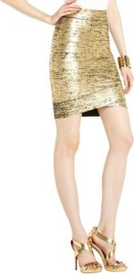 BCBGMAXAZRIA Skirt Gold