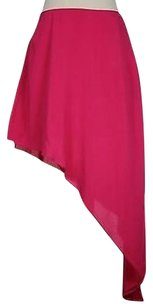 BCBGeneration Womens Solid Above Knee 100 Rayon Asymmetrical Skirt Pink
