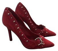 BCBGeneration Bcbg Studded Heel Suede Red Pumps