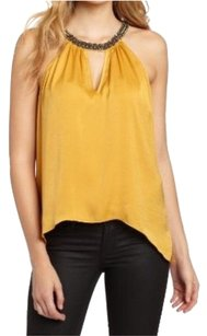BCBGMAXAZRIA Bcbg Halter Jewel Top Gold