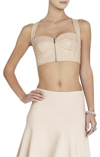 BCBGMAXAZRIA Bcbg Mante Leather Top Bare Pink