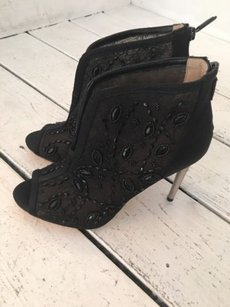 BCBGMAXAZRIA Bcbg Encrusted Evening Black Boots