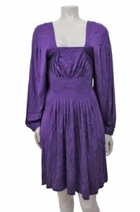 BCBGMAXAZRIA Grape Dolman Sleeve Dress