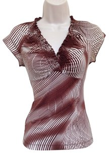 BCBGMAXAZRIA T Shirt Brown White