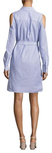 BCBGMAXAZRIA short dress Light Blue on Tradesy