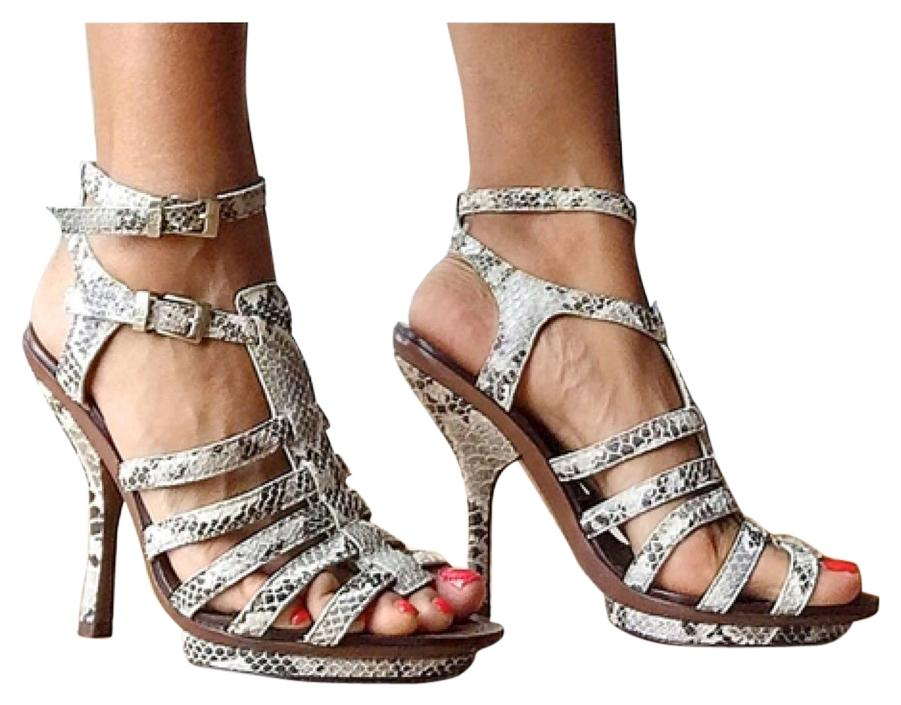 7ad635766368 BCBGMAXAZRIA Grey White and and and Black Sandals Size US 6.5 Regular (M
