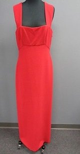 Red Maxi Dress by BCBGMAXAZRIA Crimson Lined Poly Full Length Cocktail Evening Sma3833