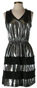 BCBGMAXAZRIA Metallic Striped Dress