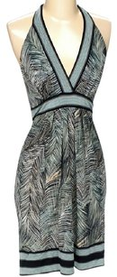 BCBGMAXAZRIA short dress Print Halter on Tradesy
