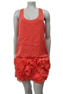 BCBGMAXAZRIA short dress Coral Bcbg Maxazria Rosette on Tradesy