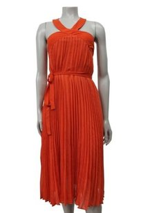 BCBGMAXAZRIA short dress Saffron Eloise Pleated on Tradesy