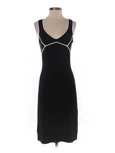 BCBGMAXAZRIA short dress Black & White Shift Sheath Contrast Sleeveless on Tradesy