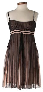 BCBGMAXAZRIA short dress Brown Silk Pleated Sleeveless on Tradesy