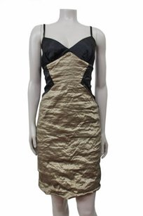 BCBGMAXAZRIA Bcbg Maxazria Gold Black Dress