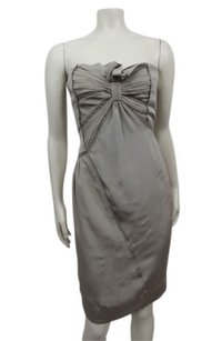 BCBGMAXAZRIA Runway Strapless Twisted Bust Lace Dress