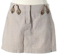 BCBGMAXAZRIA Striped Mini Skirt Beige