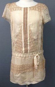 BCBGMAXAZRIA short dress Apricot Runway Lacy Floral Drop Waist Tunic 1413 A on Tradesy