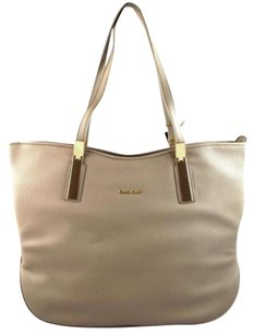 bebe Ashley Brown Grey Taupe Tote in Gray