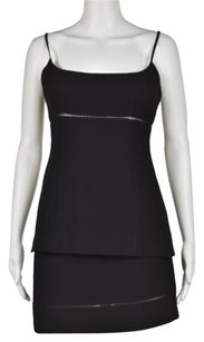 bebe Bebe Womens Black Skirt Suit 46 Casual Above Knee Sleeveless A-line