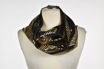 bebe Bebe Womens Black Printed Infinity Scarf One Casual Metallic