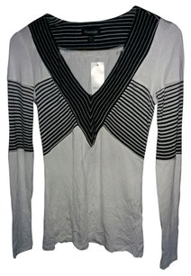Bebe Long Sleeved T Shirt Black and White