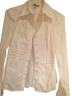 bebe Button Down Shirt White