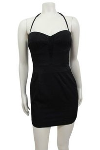 bebe Removable Halter Strap Sweet Heart Bodycon Dress