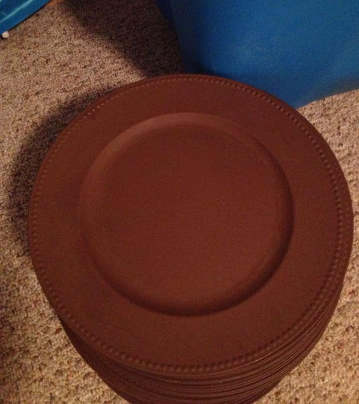 Bed Bath u0026 Beyond Brown 150 Plate Chargers Tableware & Bed Bath u0026 Beyond Brown 150 Plate Chargers Tableware - Tradesy