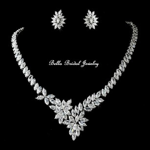 Bella Tiara Beautiful Crystal Wedding Necklace Set