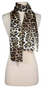 Berkshire Berkshire Womens One Black Brown Tan Animal Print Scarf 100 Polyester