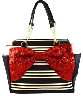 Betsey Johnson Bow Tote in Black