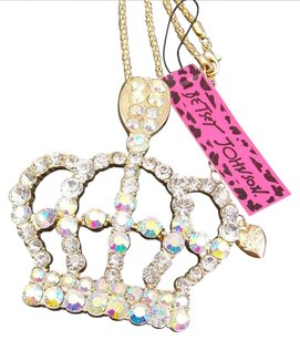 Betsey Johnson Betsey Johnson Swarovski Crystal Queen's Crown Pendant Necklace