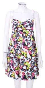 Betsey Johnson short dress Neon Cotton Bohemian Ruffle Tiered on Tradesy