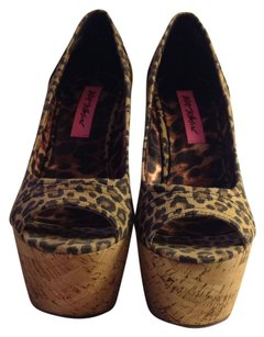 Betsey Johnson Cheetah Platforms