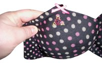 Betsey Johnson New without tags Betsey Johnson 34D Lightly Lined Black with Pink Polka dots with Rhinestones Bra