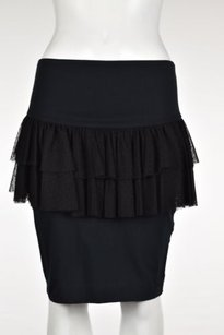 Betsey Johnson Womens Skirt Black