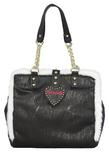 Betsey Johnson Poodle Gal Betseyville Handbag Tote in Black