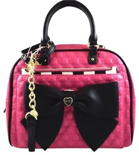 Betsey Johnson Pouch Dome Satchel in Pink