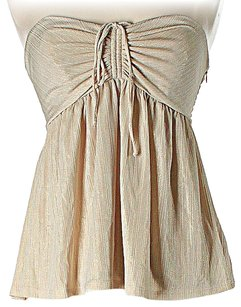 Betsey Johnson Sleeveless Top Gold / Beige