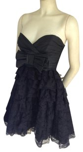 Betsey Johnson Strapless Tiered Lace Party Dress