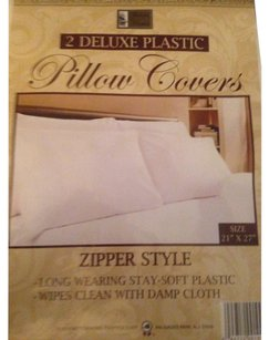 Better Home Better Home 2 DELUXE PLASTIC Pillow Covers Zipper Style: Long Wearing Stay-Soft Plastic Wipes Clean W/Damp Cloth